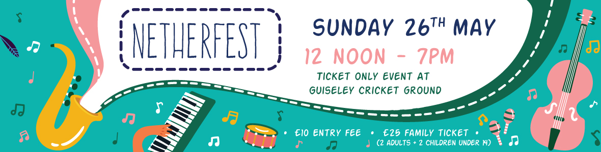 Nether Fest, Sunday 26th May, 12 Noon - 7PM.